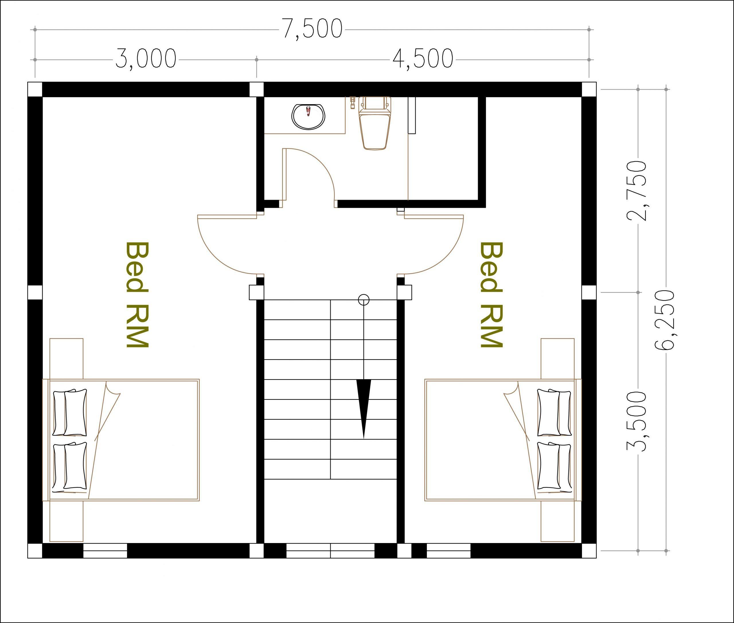 House 0.5 floor plan