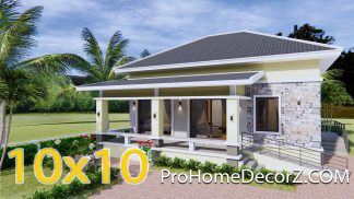 3 Bedroom House Plans 10x10 Meter 33x33 Feet