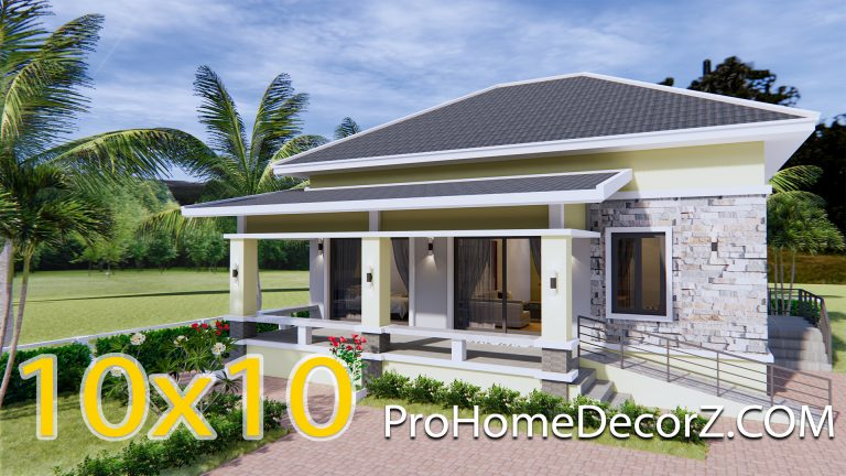 3 Bedroom House Plans 10x10 Meter 33x33 Feet