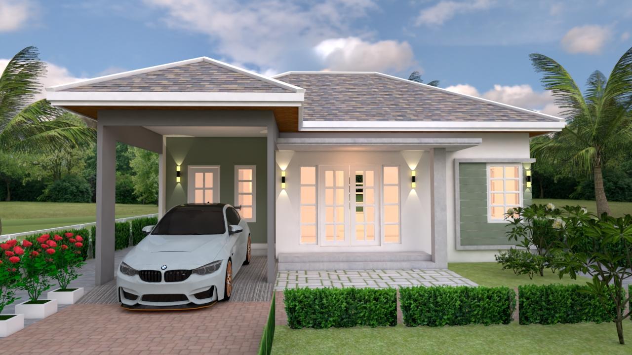 3d House Design 10x10 Meter 33x33 Feet 3 Beds 2