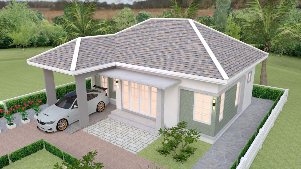 3d House Design 10x10 Meter 33x33 Feet 3 Beds 5