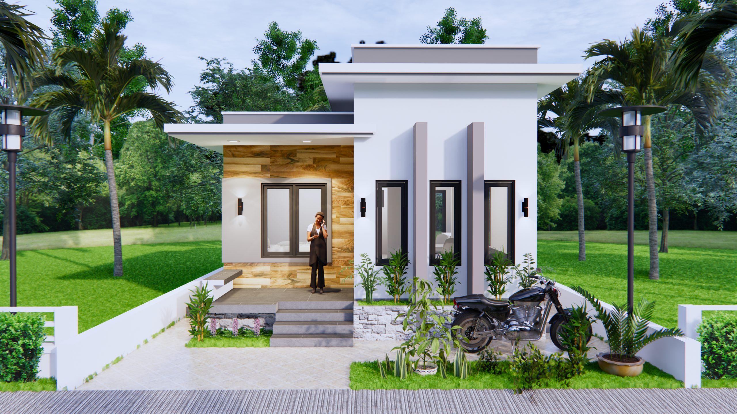 Best Small House Plans 6x8 Meter 20x27 Feet 2 Beds 1