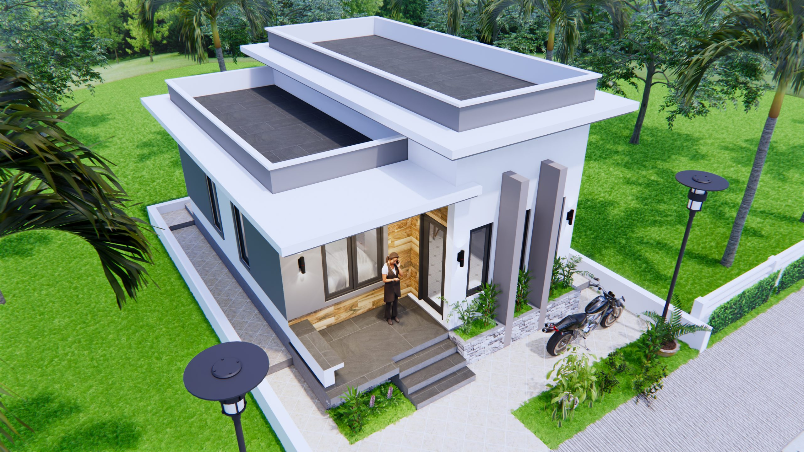 Best Small House Plans 6x8 Meter 20x27 Feet 2 Beds 3