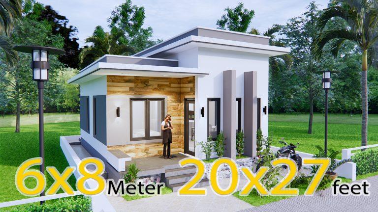 Best Small House Plans 6x8 Meter 20x27 Feet 2 Beds