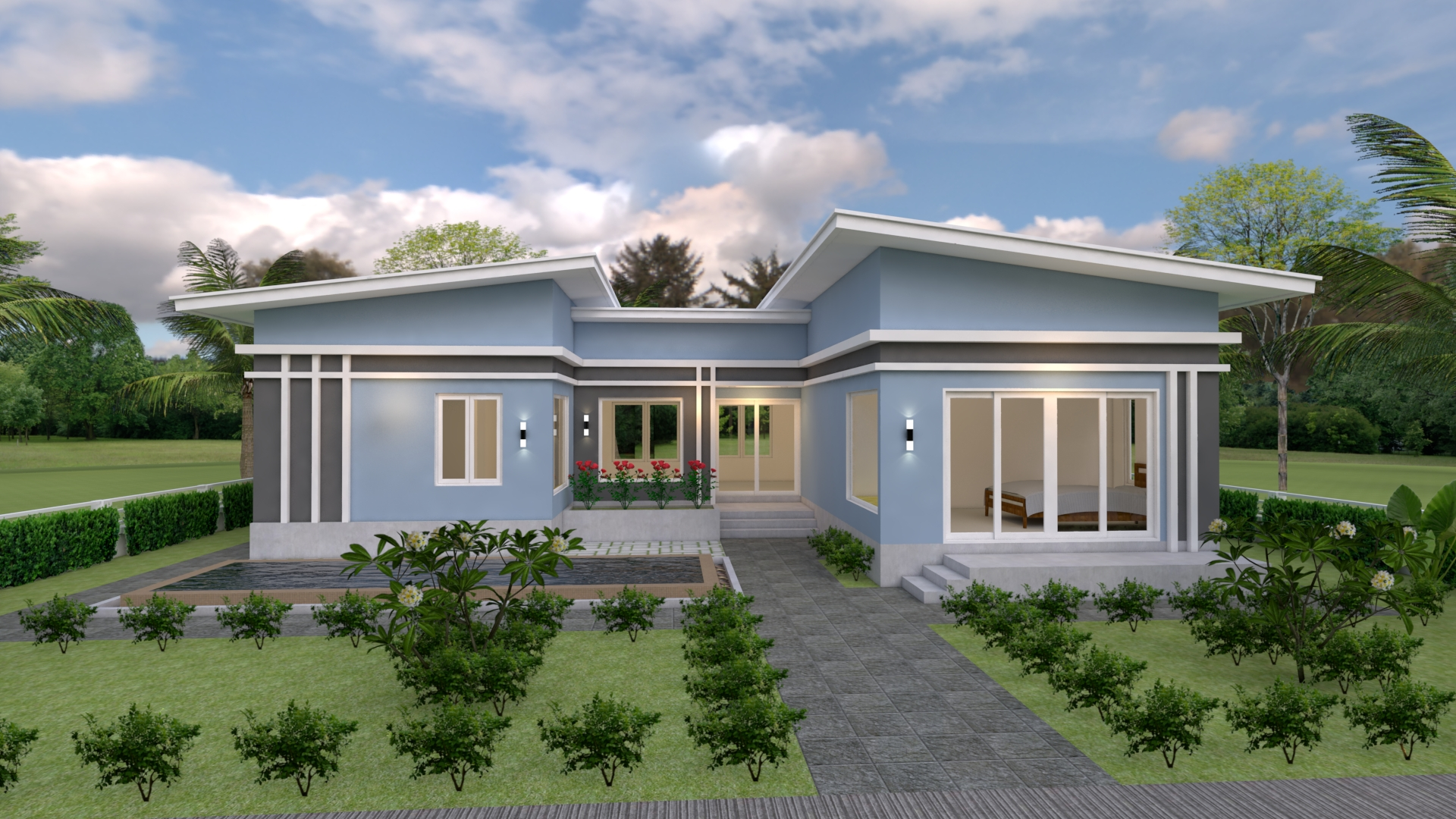 Cool House Plans 15x11 Meter 49x36 Feet 3 Beds 2