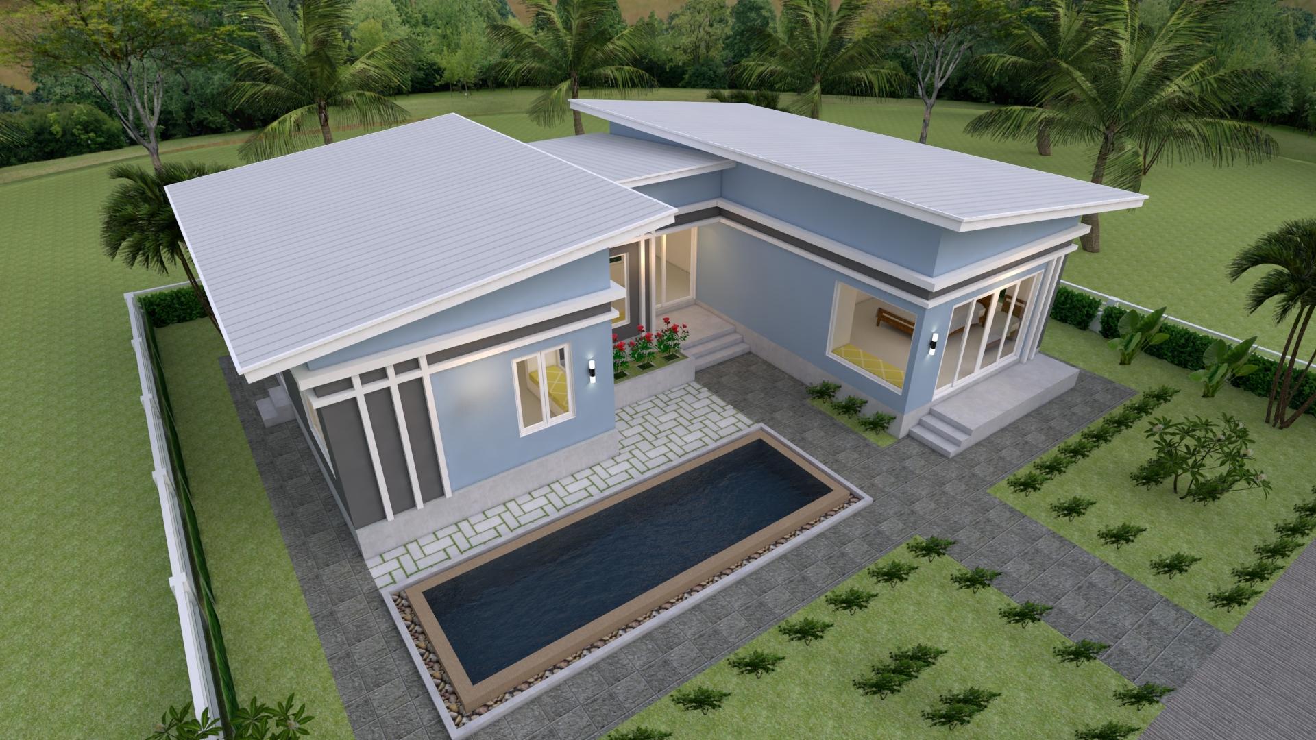 Cool House Plans 15x11 Meter 49x36 Feet 3 Beds 5