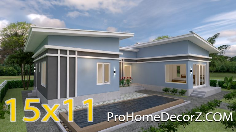 Cool House Plans 15x11 Meter 49x36 Feet 3 Beds
