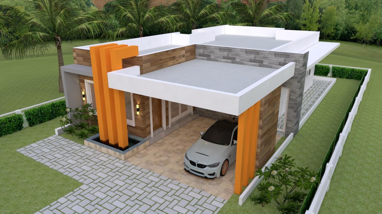 House Design 3d 10x18 Meter 33x59 Feet 3 Bedrooms Terrace Roof 4