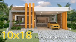 House Design 3d 10x18 Meter 33x59 Feet 3 Beds
