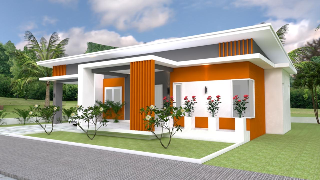House Designs Plans 16x11 Meter 53x36 Feet 3 Beds 2