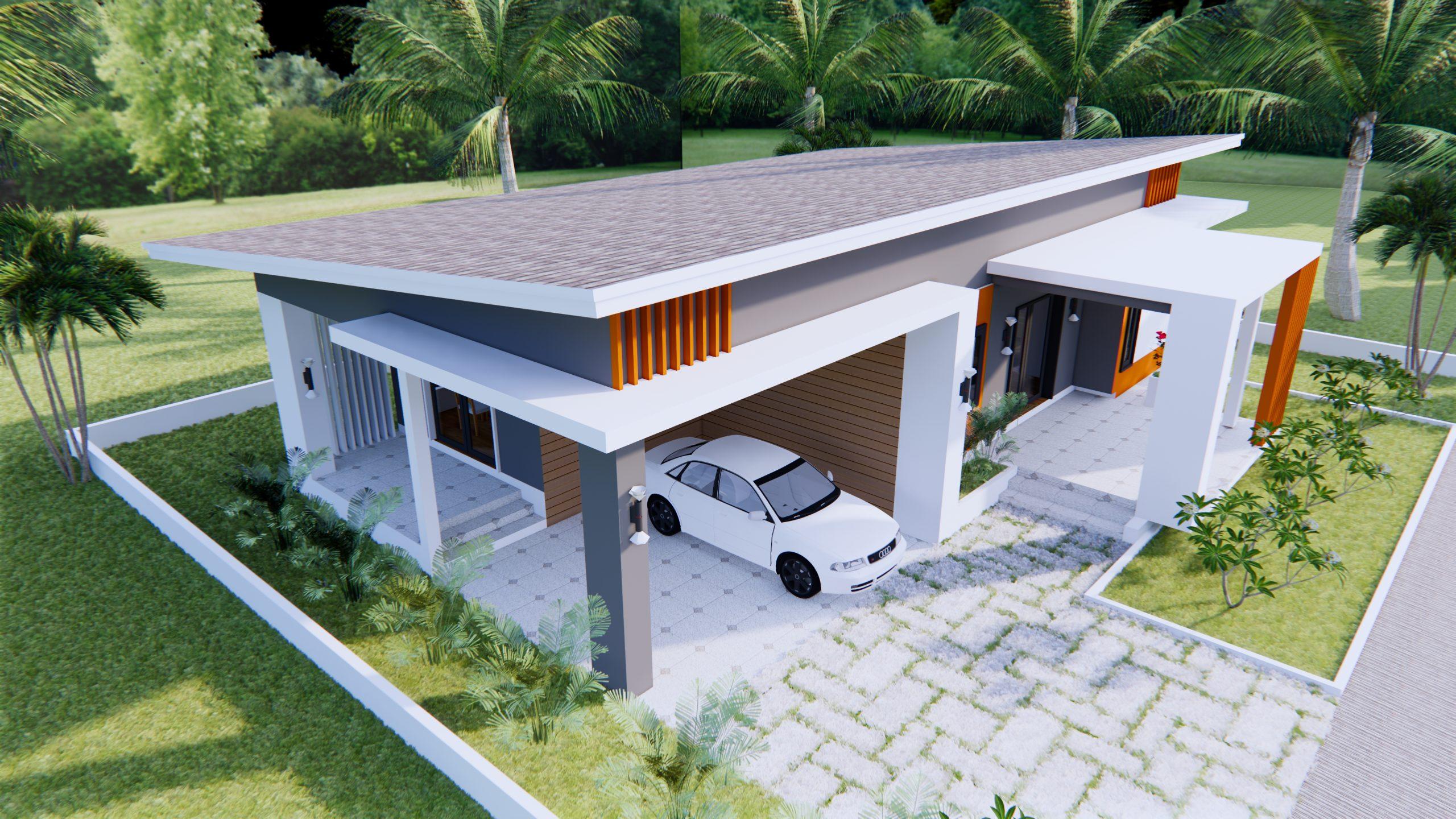 House Designs Plans 16x11 Meter 53x36 Feet 3 Beds 5