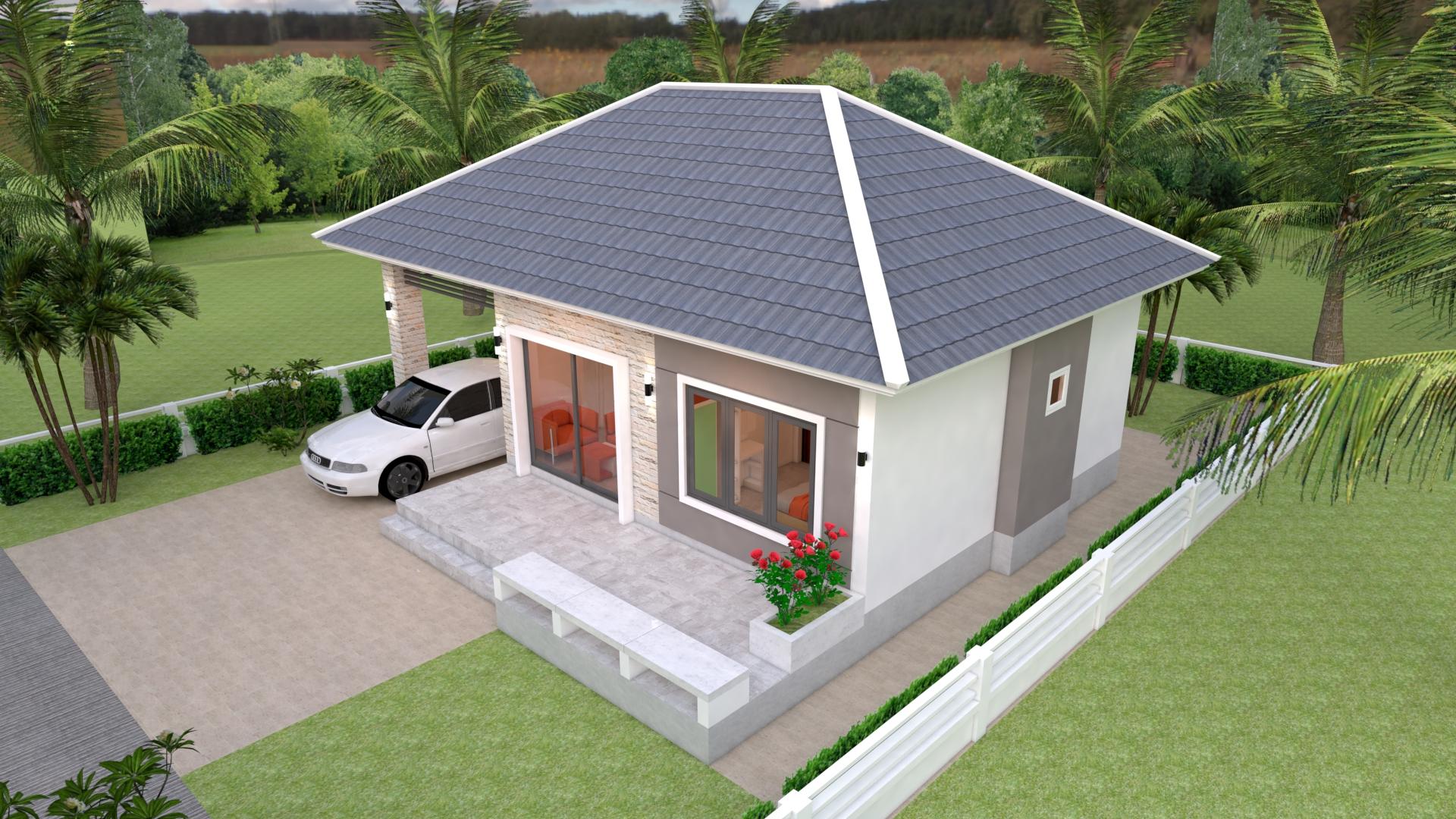 House Floor Plans 11x7 Meter 36x23 Feet 3 Beds 5