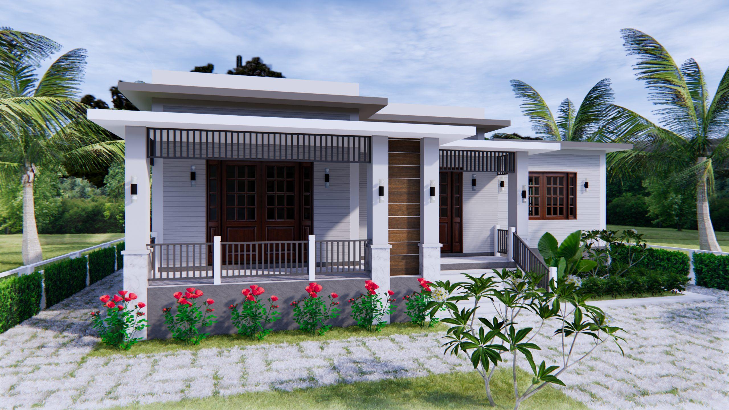 House Plan Drawing 12x11 Meter 39x36 Feet 3 Beds 7