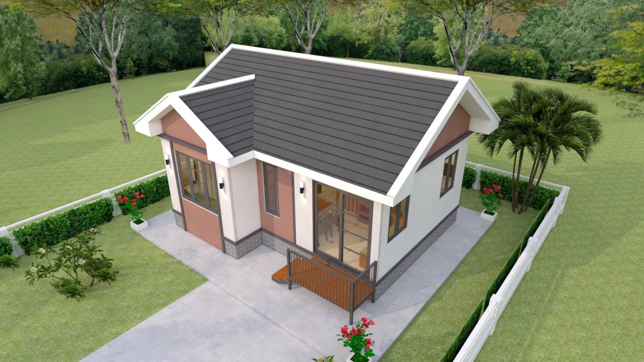 Luxury Tiny House 7x6 Meter 23x20 Feet 2 Beds 1