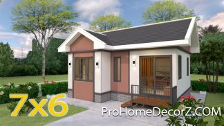 Luxury Tiny House 7x6 Meter 23x20 Feet 2 Beds