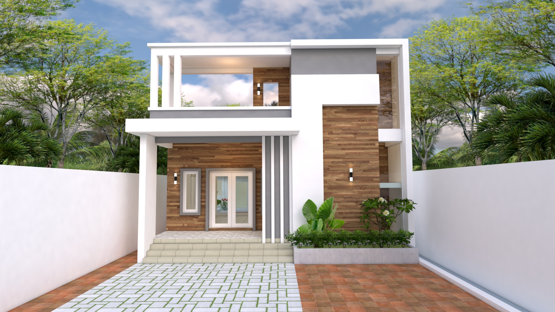 Modern Home Plans 10x25 with 33x82 Feet 3 Beds 2