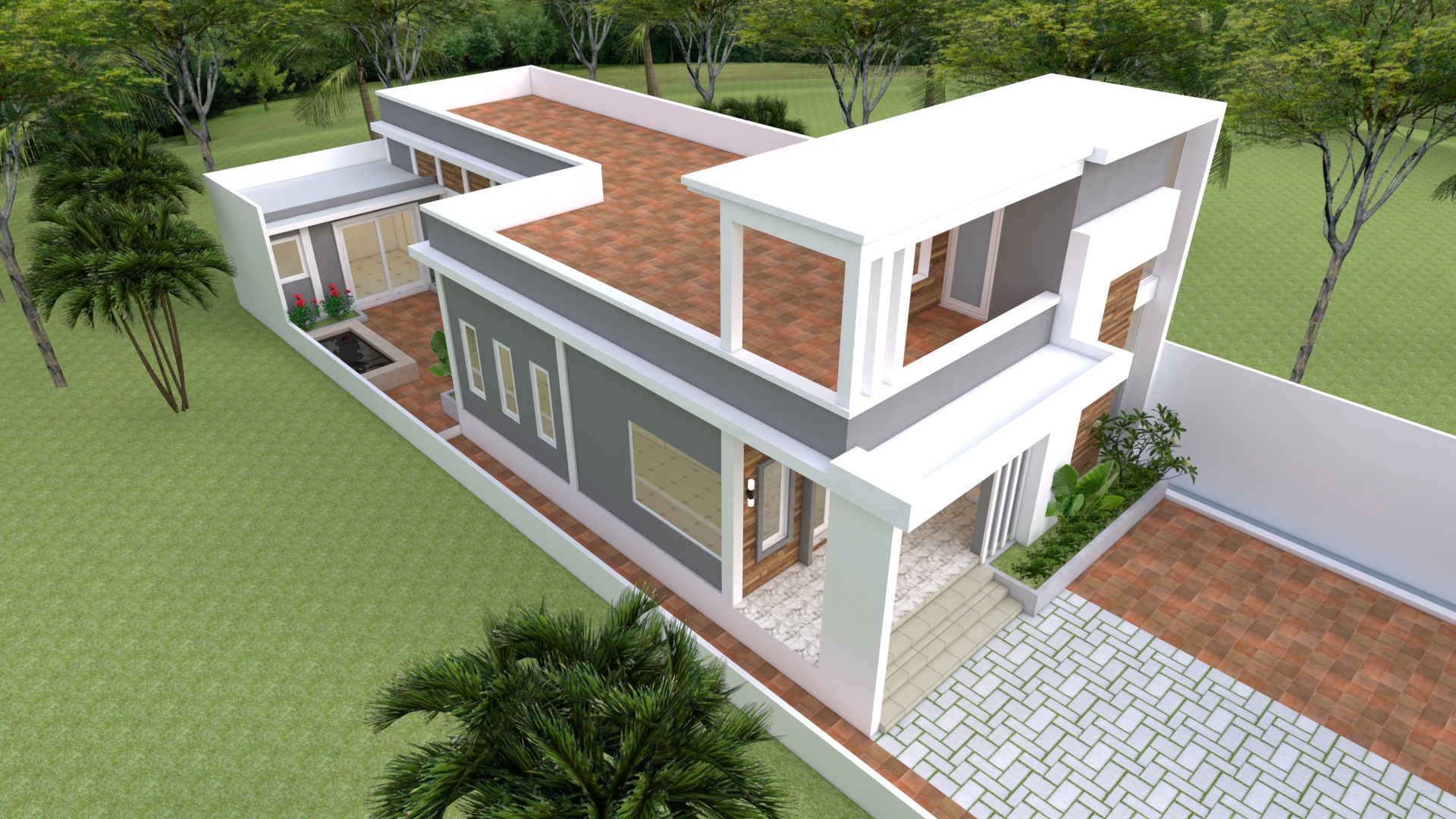 Modern Home Plans 10x25 with 33x82 Feet 3 Beds 3