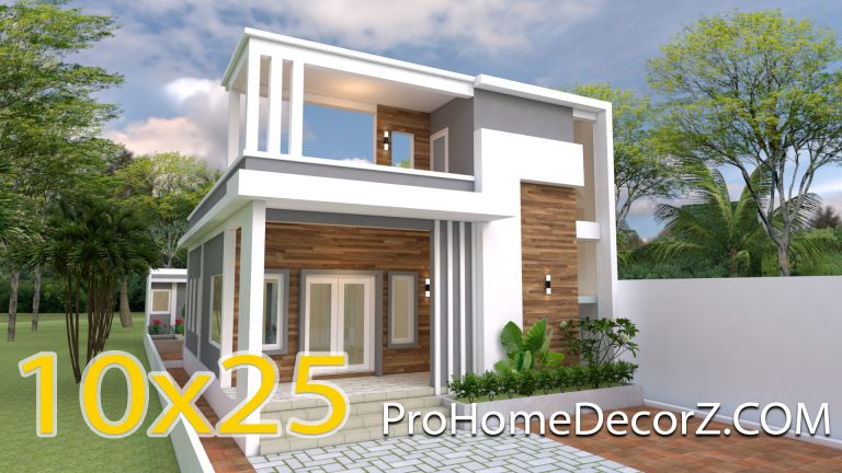 Modern Home Plans 10x25 with 33x82 Feet 3 Beds