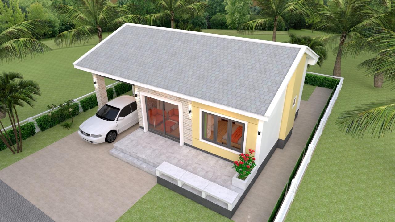 Modern house Plans 11x7 Meter 36x23 Feet 3 Beds 4