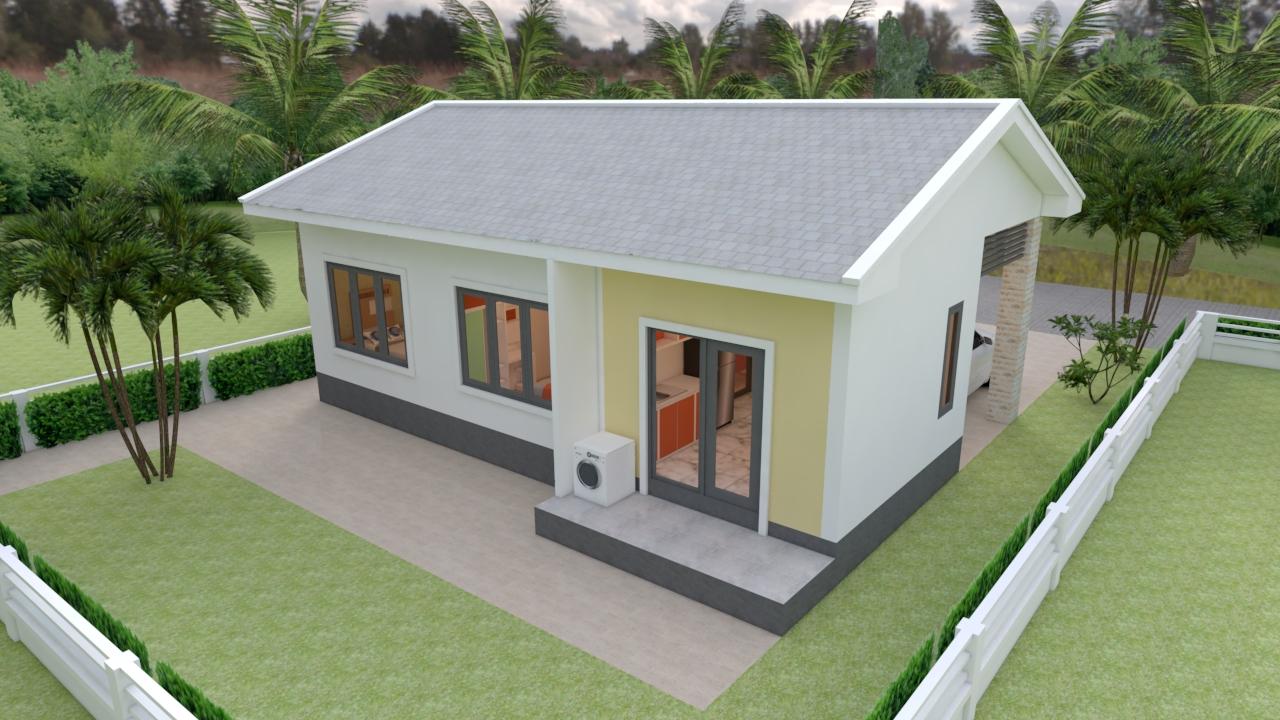 Modern House Plans 11x7 Meter 36x23 Feet 3 Beds 5