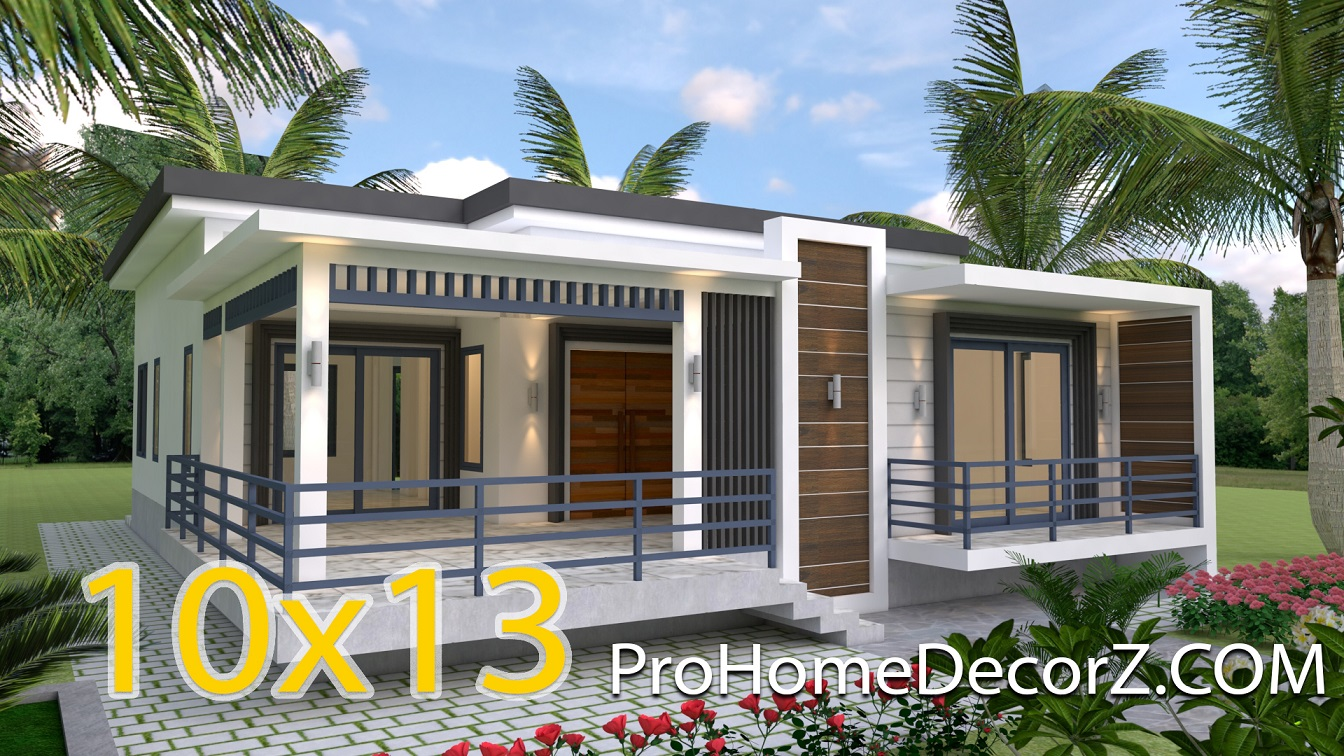 Modern Ranch House Plans 10x13 Meters 33x43 Feet 4