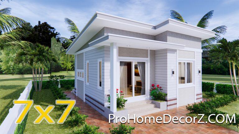 Modern Tiny Homes 7x7 Meters 24x24 Feet