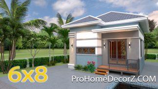 Modern Tiny House 6x8 Meter 20x26 Feet Hip Roof