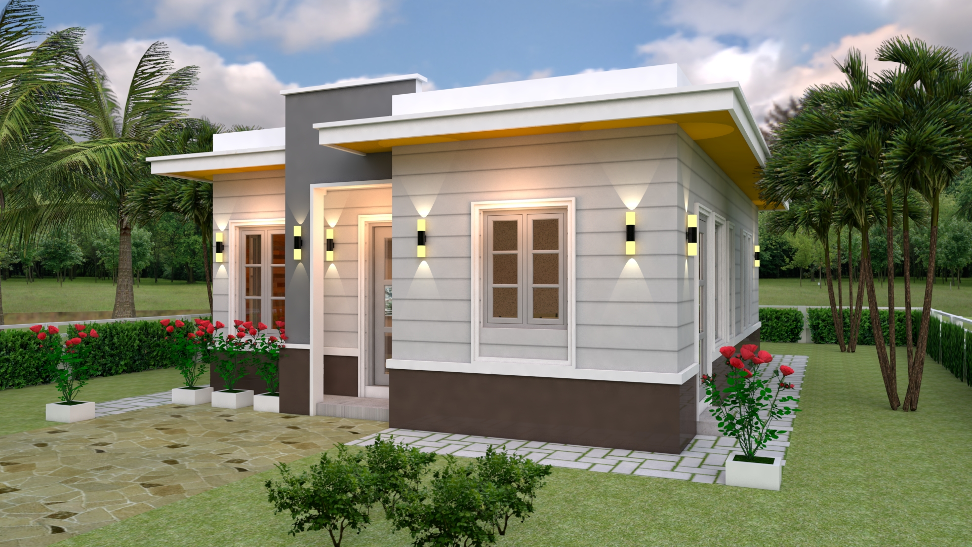 Nice Nmall Houses 7x10 Meter 23x33 Feet 3 Beds 2