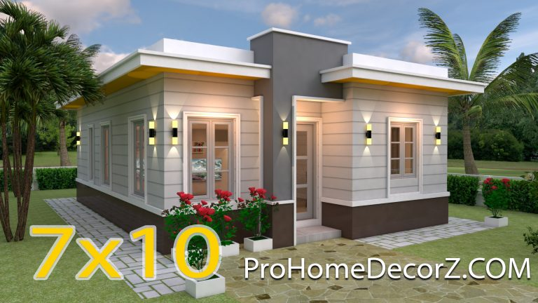 Nice Nmall Houses 7x10 Meter 23x33 Feet 3 Beds