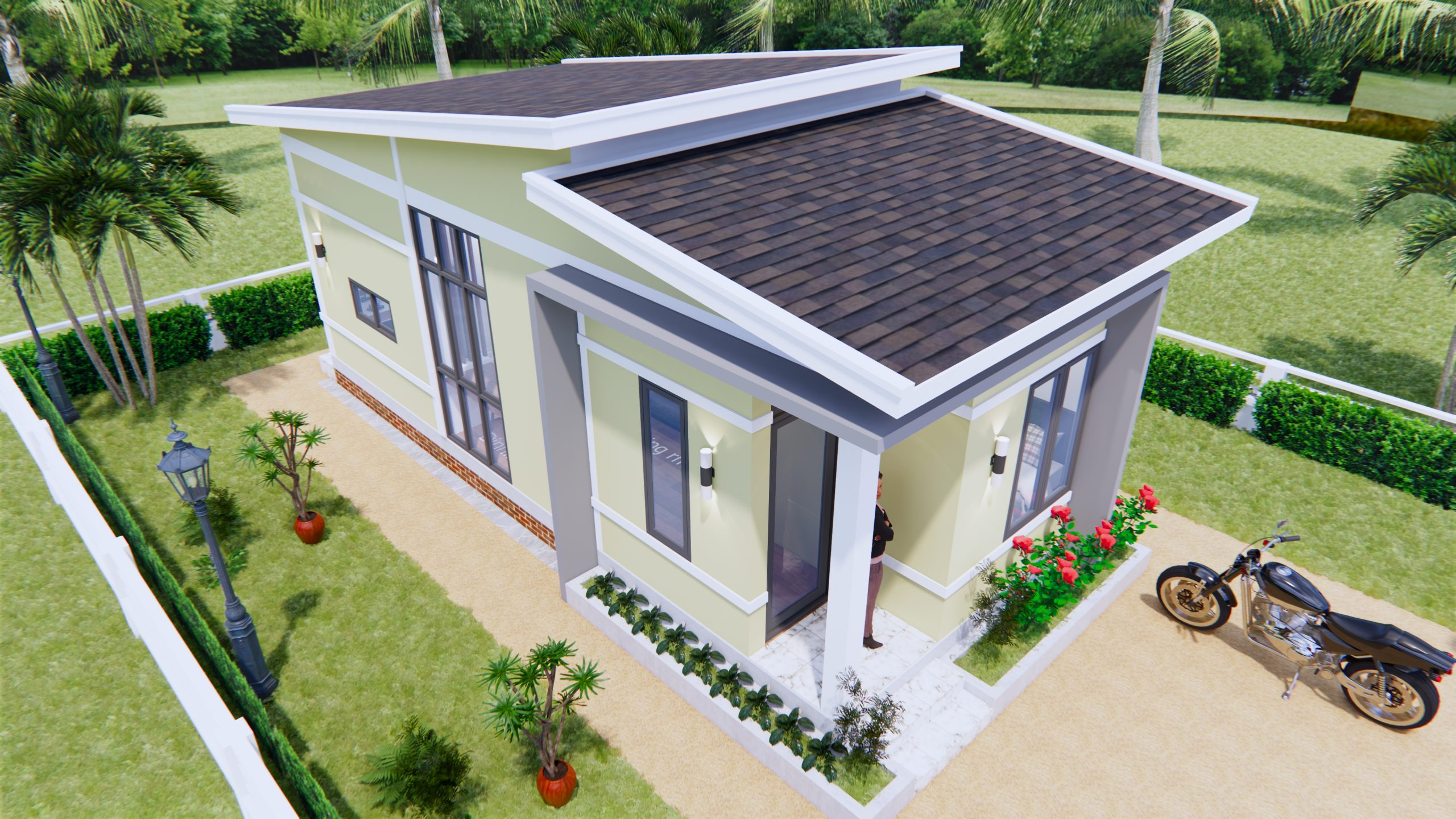One Level House Plans 4x9 Meter 13x30 Feet 1