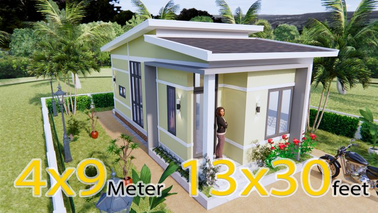 One Level House Plans 4x9 Meter 13x30 Feet