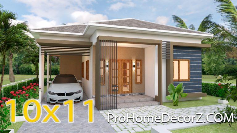 One Storey House 10x11 Meter 33x36 Feet 3 Beds
