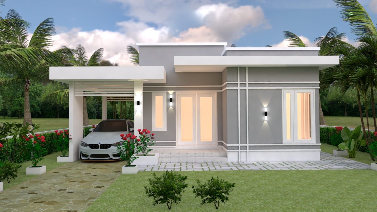 Simple Beautiful House 9x12 Meter 30x40 Feet 3 Beds 1
