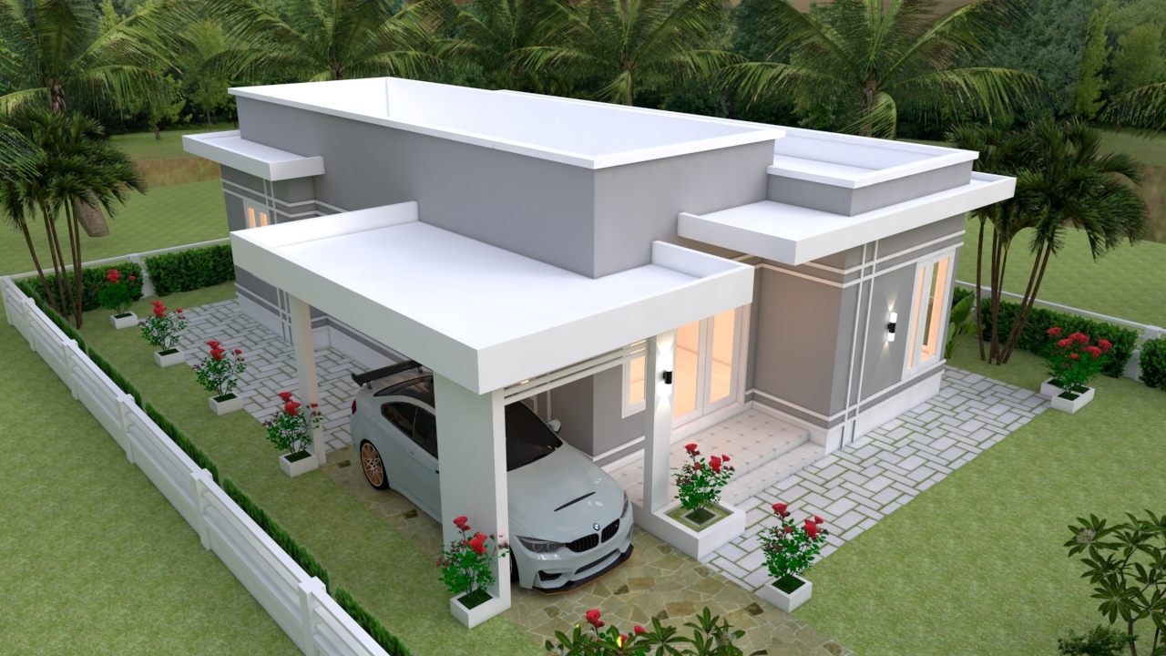 Simple Beautiful House 9x12 Meter 30x40 Feet 3 Beds 2