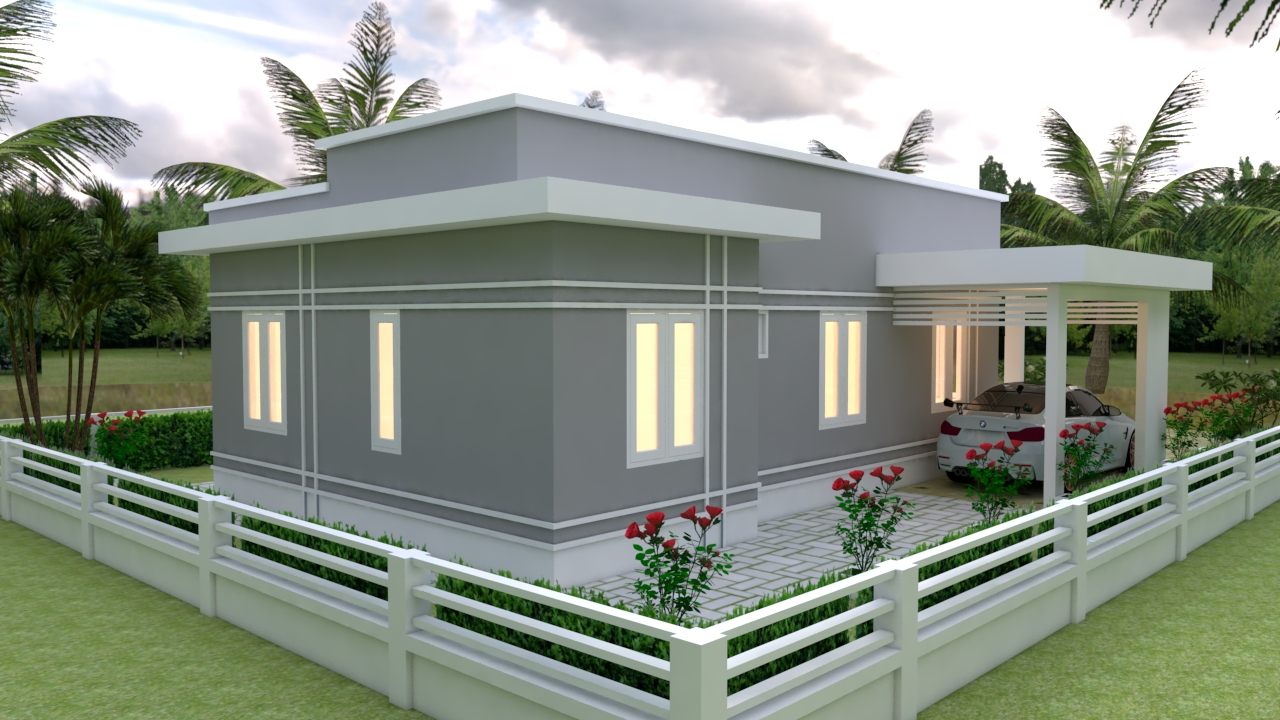 Simple Beautiful House 9x12 Meter 30x40 Feet 3 Beds 4