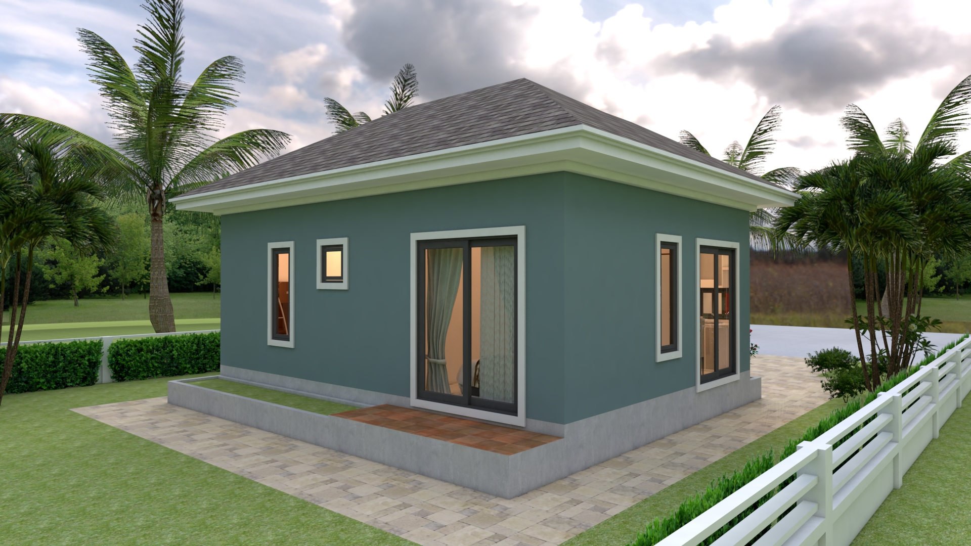Simple Bungalow House Designs 8x6 Meter 26x20 Feet 2 Beds 3