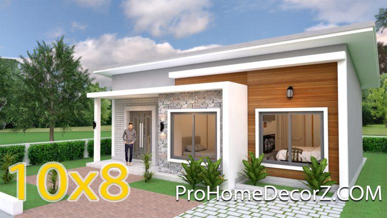 Simple House Design 10x8 Meter 27x34 Feet 3 Beds