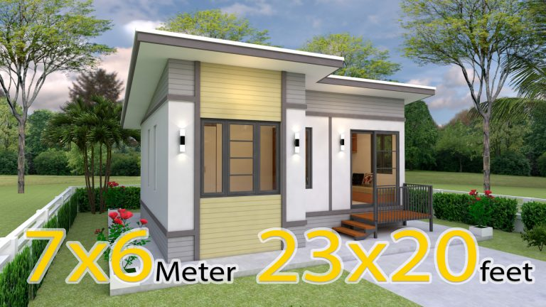 Simple Small House Design 7x6 Meter 23x20 Feet 2 Beds