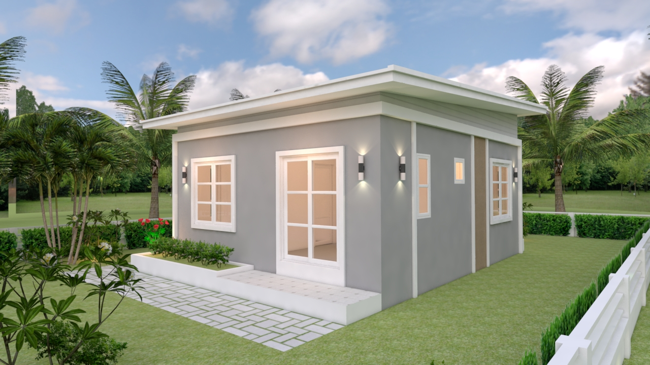 Single Floor House Designs 6.5x8 Shed Roof 3