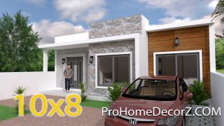 Single Story House 10x8 Meter 33x26 Feet