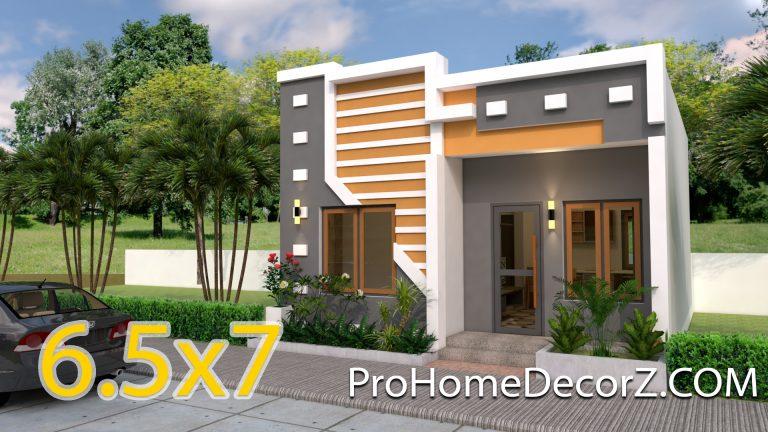 Single Story House Plans 6.5x7 Meter 22x30 feet