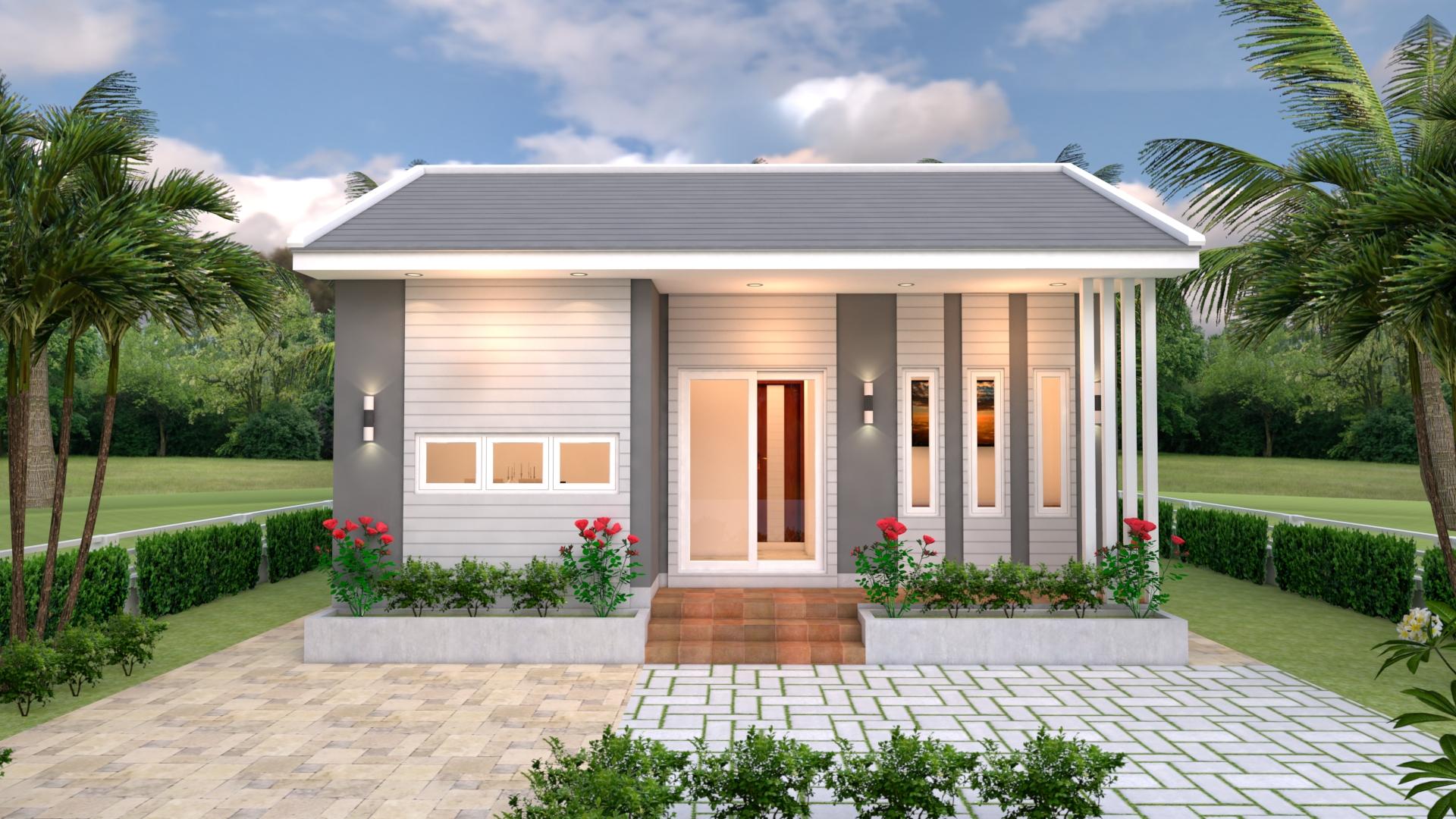 Small 2 Bedroom House 8x6 Meter 26x20 Feet 2