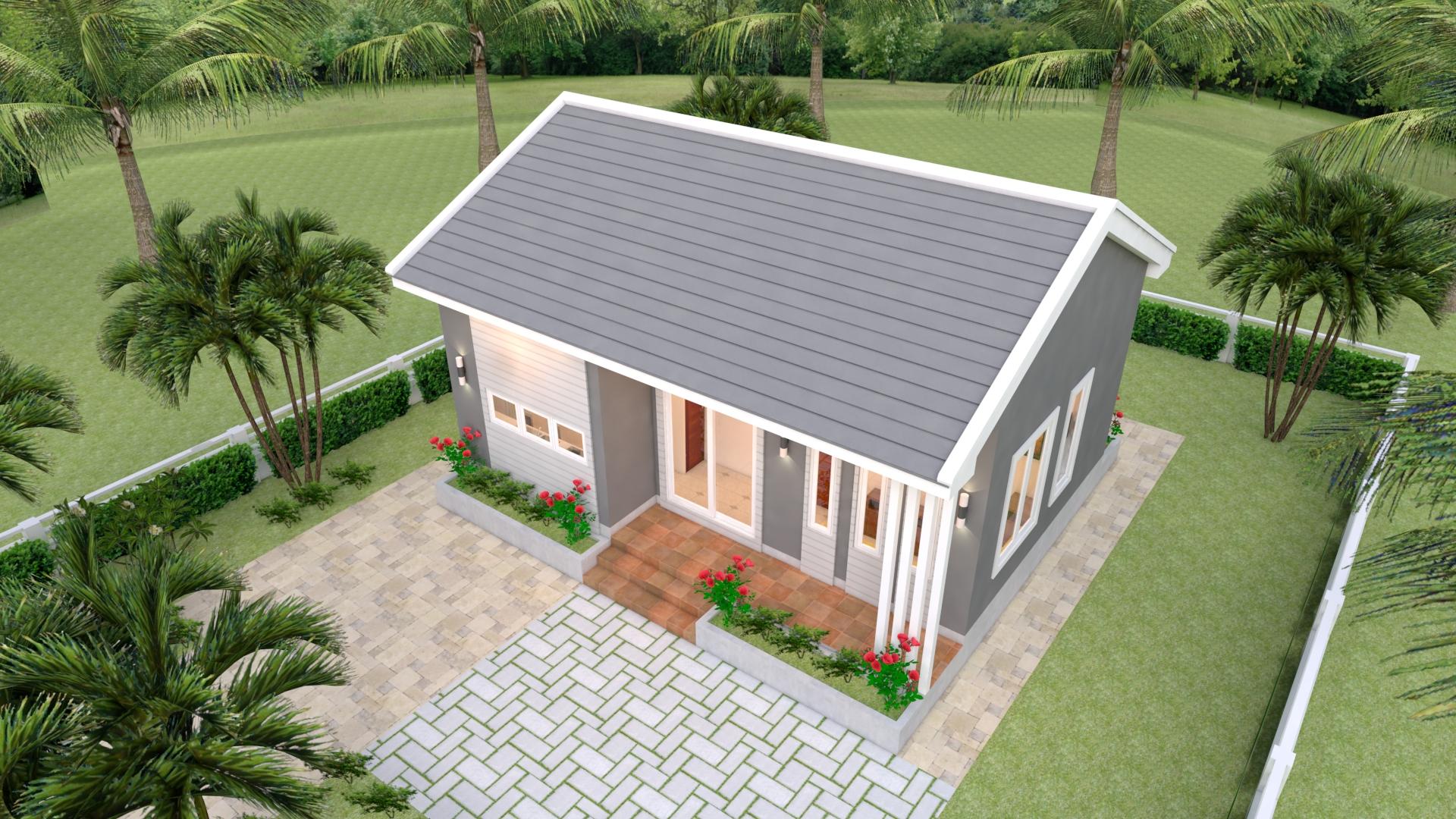 Small 2 Bedroom House 8x6 Meter 26x20 Feet 4