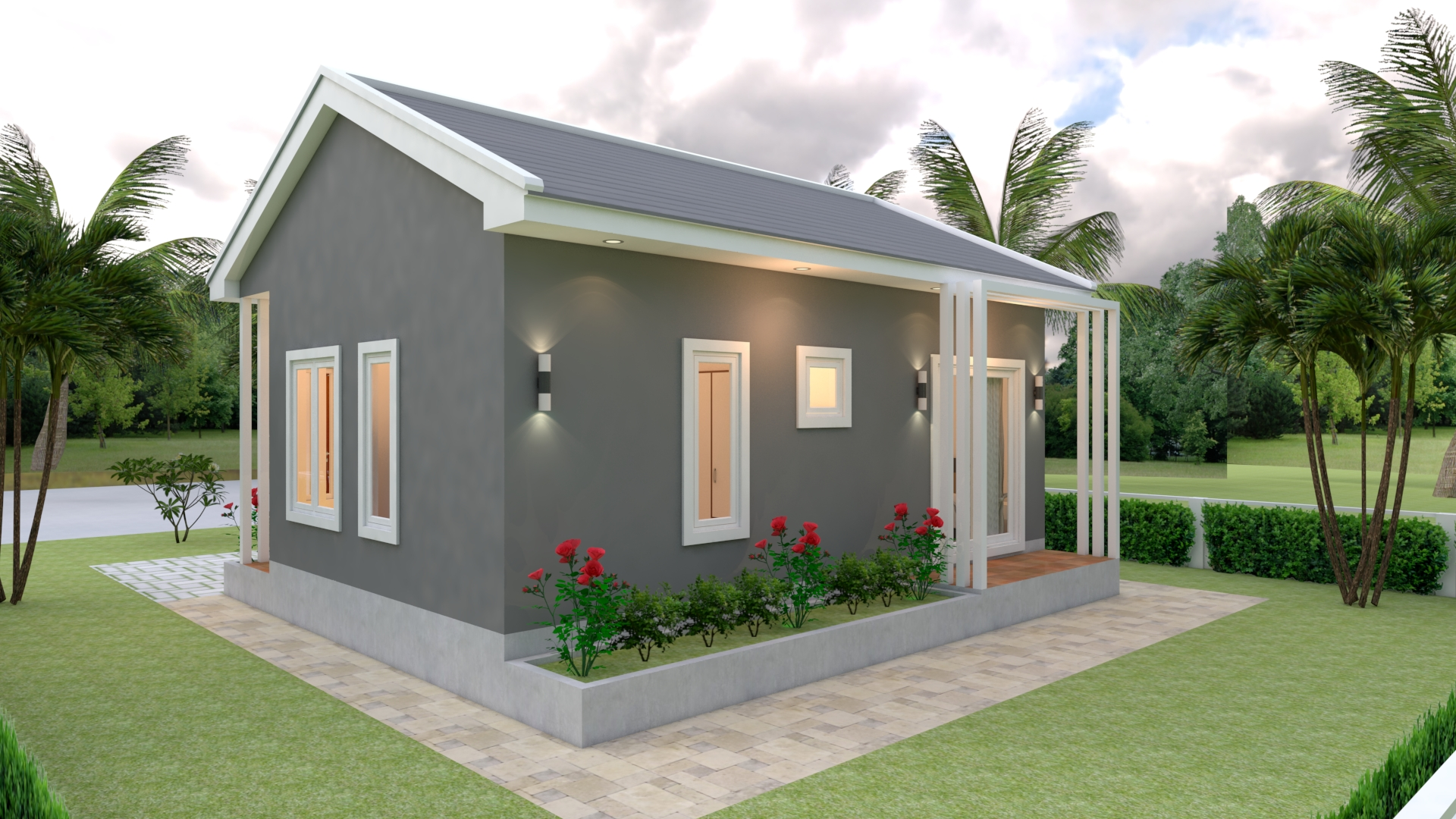 Small 2 Bedroom House 8x6 Meter 26x20 Feet 5