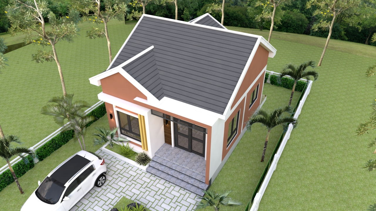 Small Bungalow 6.5x8.5 with 2 Bedrooms Gable roof 3