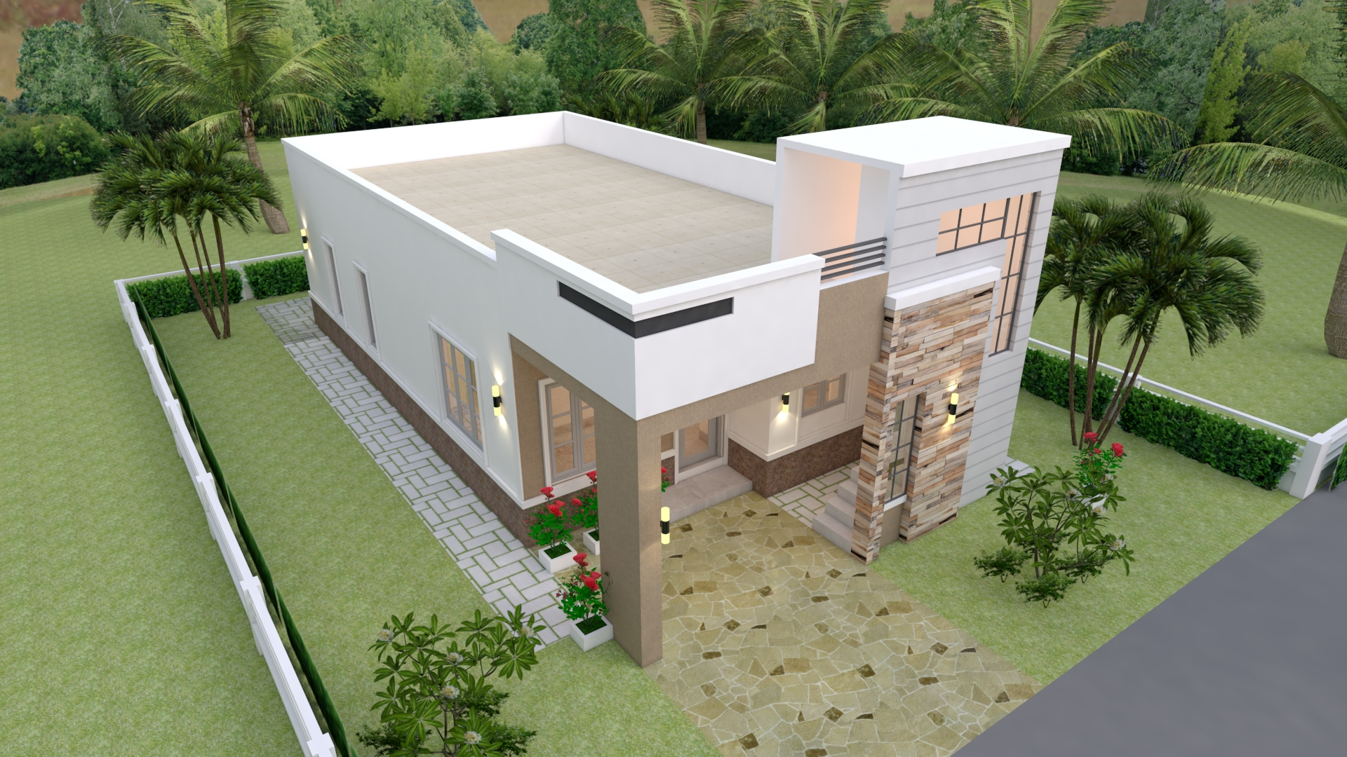 Small Custom Homes 7x14 Meter 23x46 3 Beds 3