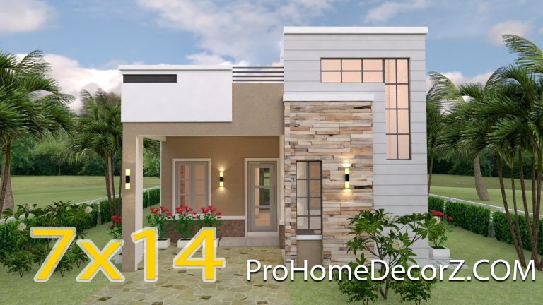 Small Custom Homes 7x14 Meter 23x46 3 Beds