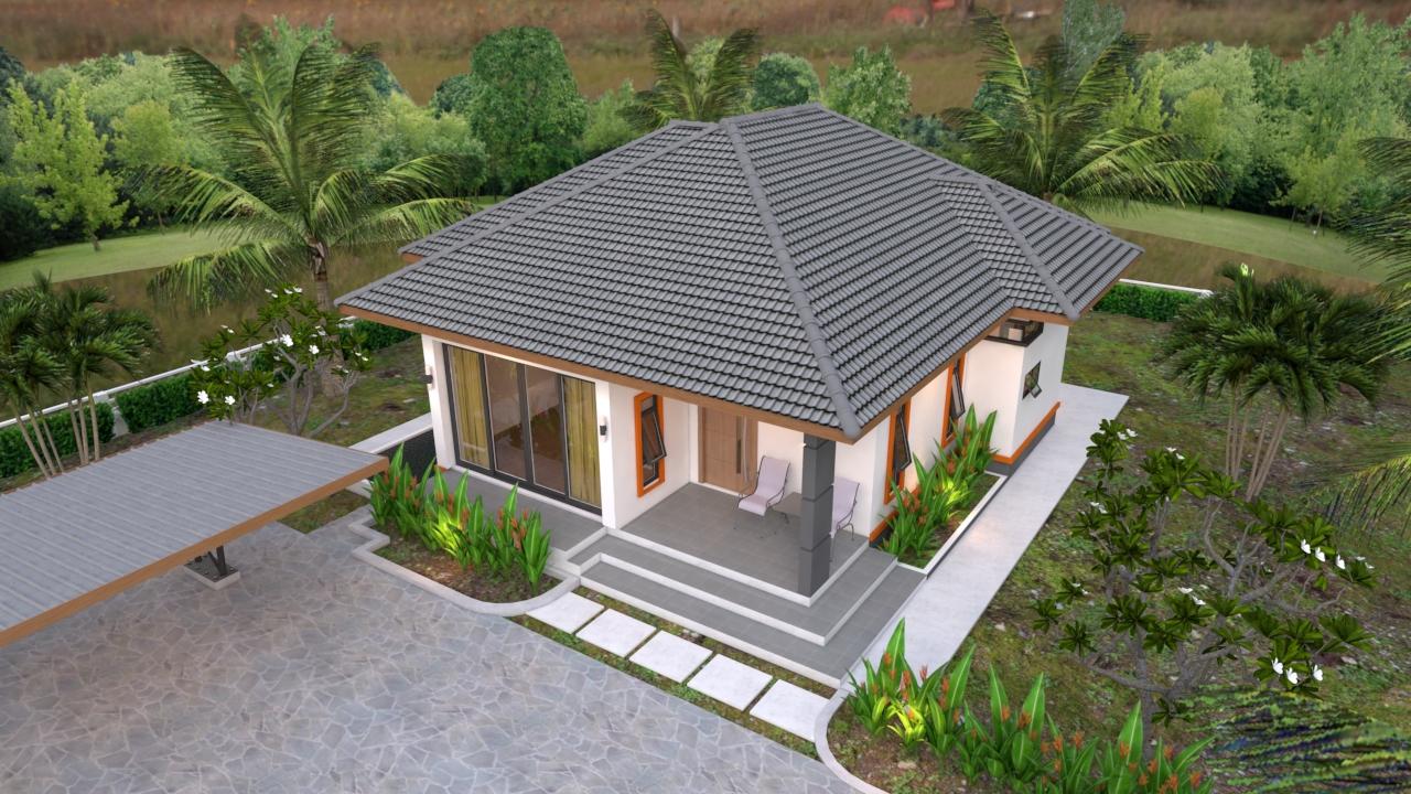 Small Dream House 10.7x10.5 Meter 35x34 Feet 2 Beds 2