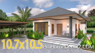 Small Dream House 10.7x10.5 Meter 35x34 Feet 2 Beds