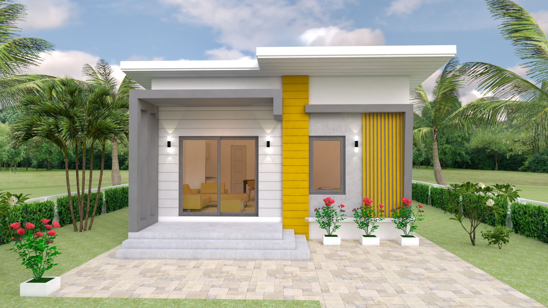 Small Family House 7x12 Meter 23x40 Feet 2 Beds 1